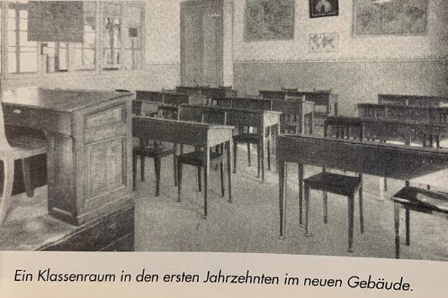 Klassenraum im neuen Gebäude