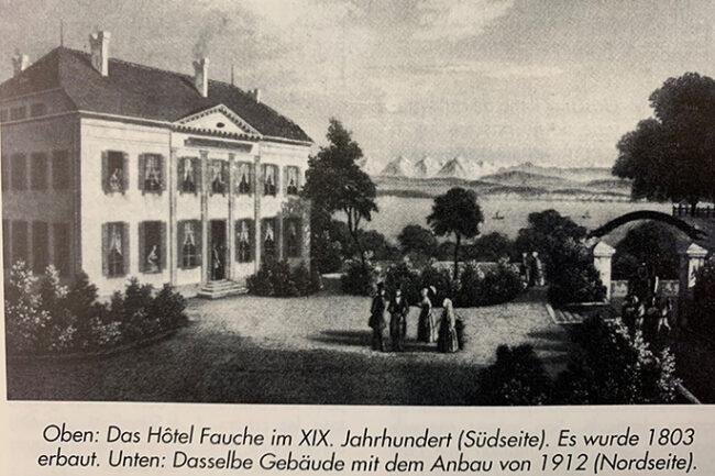 Hôtel Fauche im XIX. Jahrhundert. Erbaut 1803
