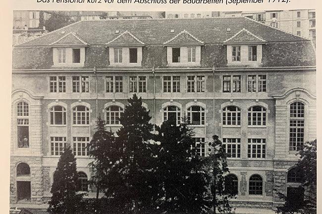 Pensionat kurz vor dem Abschluss der Bauarbeiten 1912