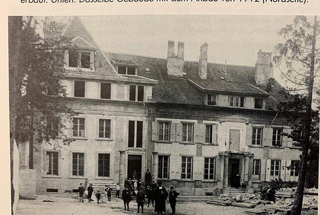 Hôtel Fauche mit dem Anbau 1912 (Nordseite)