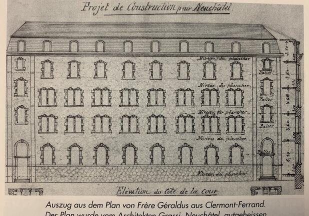 Auszug aus dem Plan von Frère Géraldus aus Clermont-Ferrand