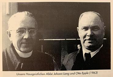 Abbé Johann Lang und Otto Epple (1963)