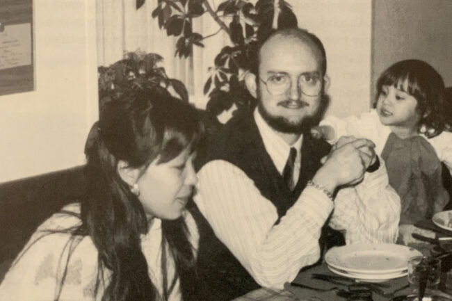 Monsieur Patrice Ettlin, Directeur, seine Frau und eine seiner beiden Töchter